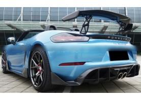 Porsche Boxster 718 Stuttmatte Carbon Fiber Rear Diffuser