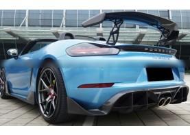 Porsche Boxster & Cayman 718 Stuttmatte Unpainted Rear Diffuser